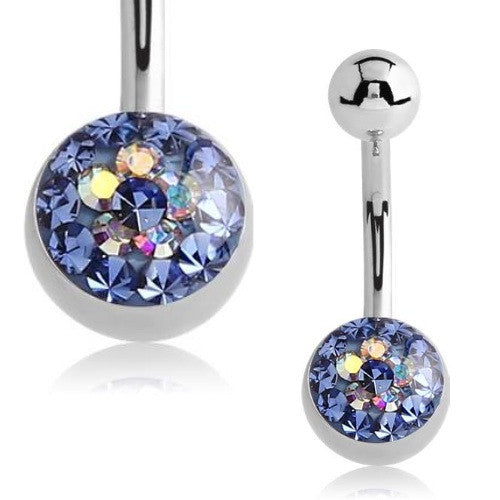Crystal Flower Basic Belly Bar