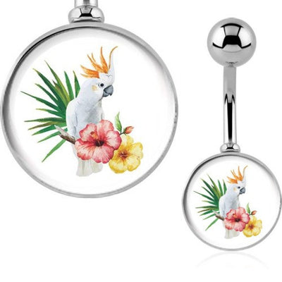 Cockatoo Bird Belly Ring. Australia