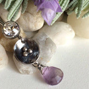 Odyssey 925 Silver and Ametrine Drop Navel Jewellery