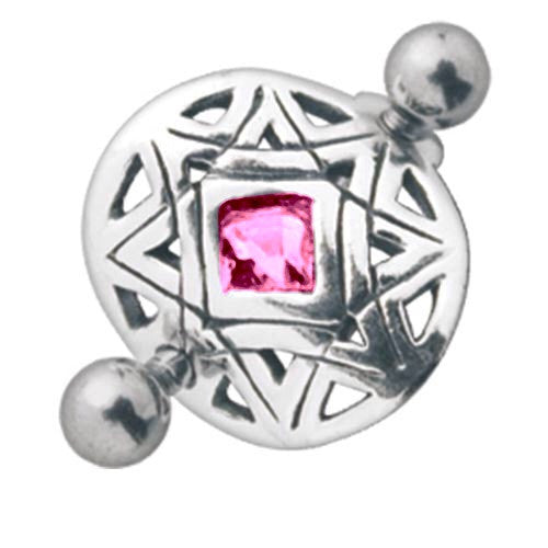 Candy Diamond Belly Shield Belly Bar
