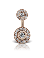 18k Rose Gold and Diamond Belly Button Ring