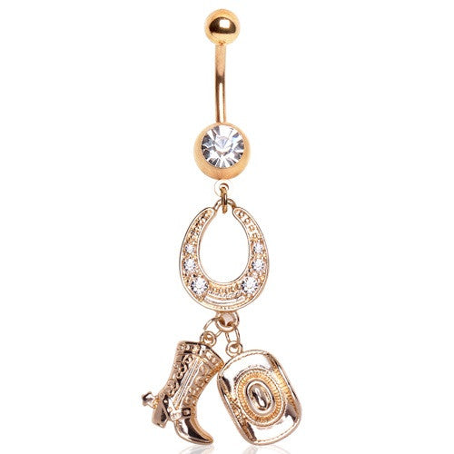 Country Girl Dangly Belly Button Ring