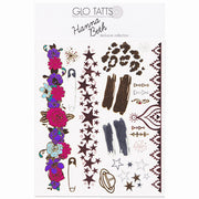 GLO TATTS® LIMITED EDITION Hanna Beth Design Pack Tattoos - BONUS SHEET
