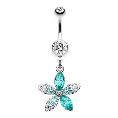 Springs First Flower Dangling Belly Ring
