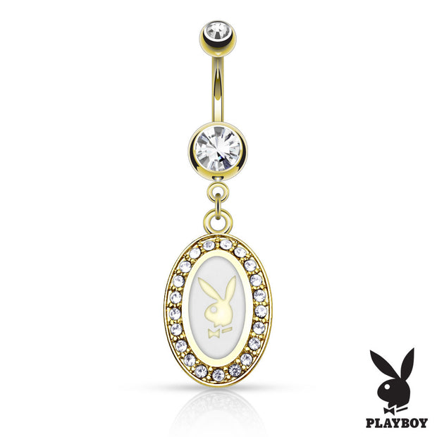Official Gold Playboy Bunny Navel Piercing Bar