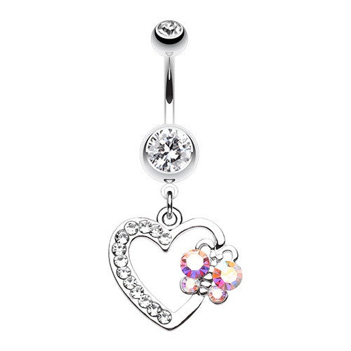 Dangling Heart Belly Button Ring