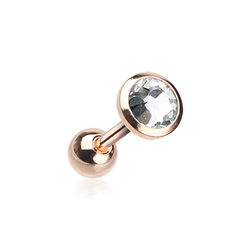 Rose Gold Gem Sparkle Tragus Cartilage Earring