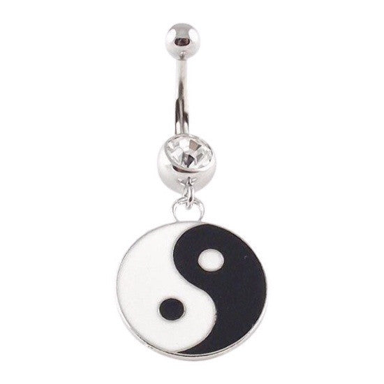 Yin & Yang Dangling Belly Ring