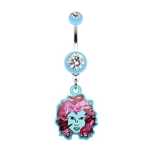 Medusa Dangle Belly Button Ring Australia