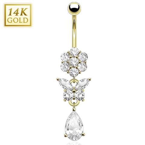 Splendid Garden 14k Gold Belly Dangle