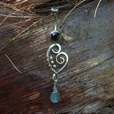 Labradorite Belly Dangle Bar