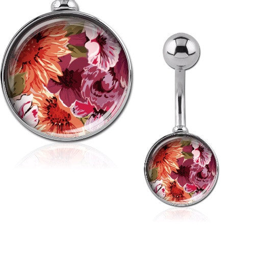 Tropical Flower Belly Rings Australia