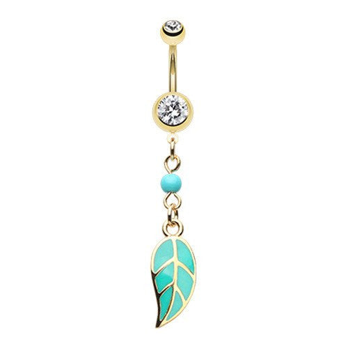 Golden Forest Spirit Leaflet Belly Bar