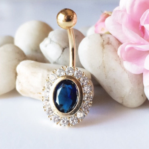 Persian Blue Belly Ring