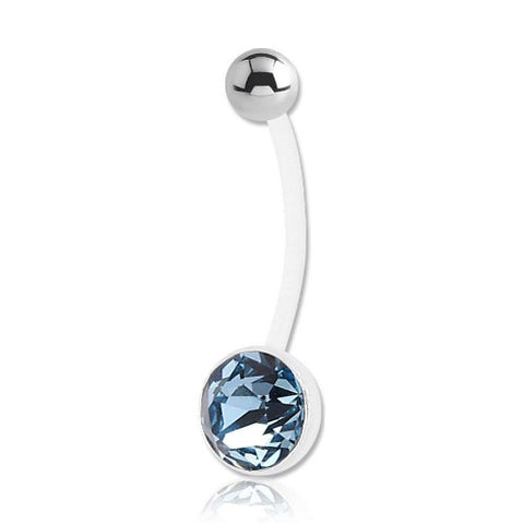 Jewelled Cup Flexible Belly Bar