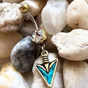Arrowhead Belly Button Ring