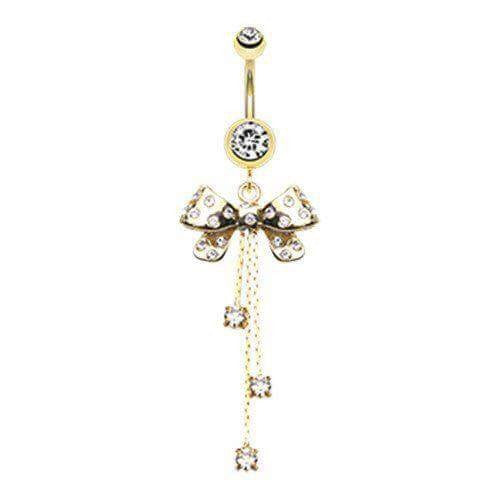 Party Bow Belly Rings