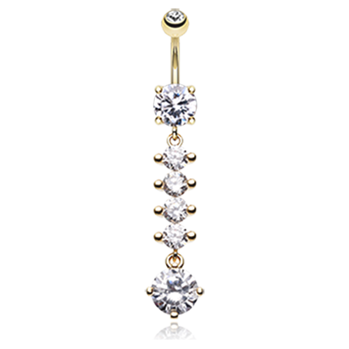 Radiant Crystal Parade Dangle Navel Bar