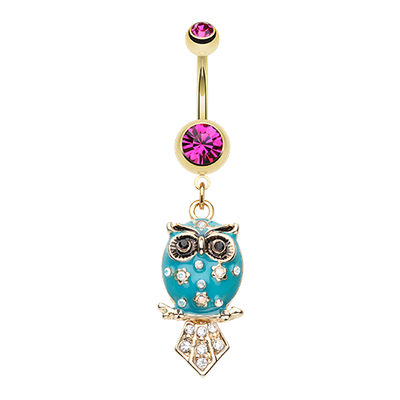 The Wisdom Owl Belly Ring