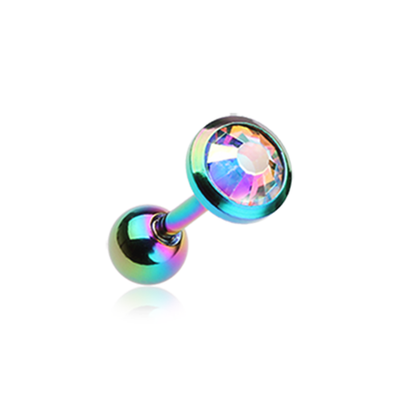 Rainbow Aurora Gem Sparkle Tragus Cartilage Earring