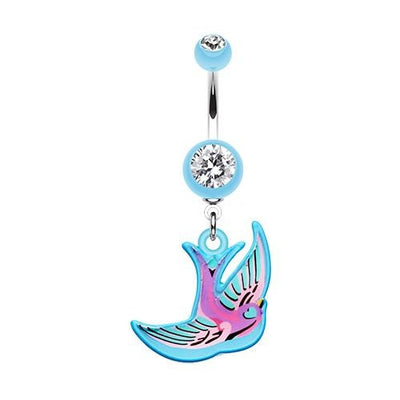 Freedom Bird Acrylic Dangling Belly Ring Australia
