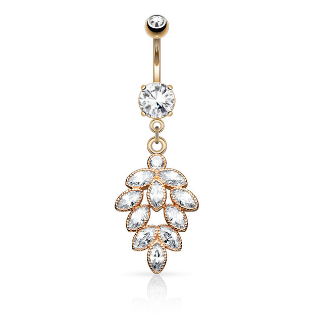 Millie Feuilles Dangly Belly Ring