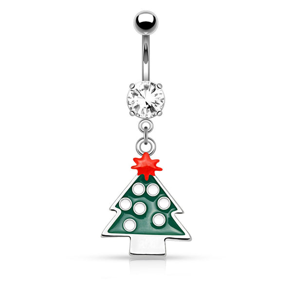 Christmas Tree Dangle Belly Bar