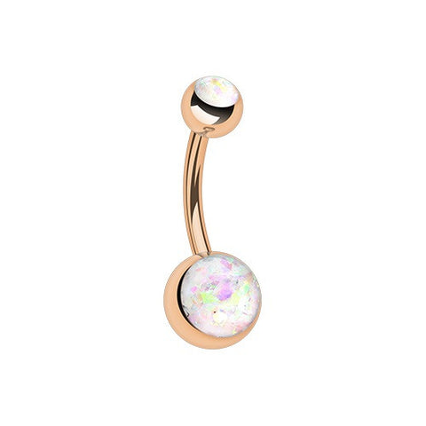 Rose Gold Opal Belly Piercing Jewellery