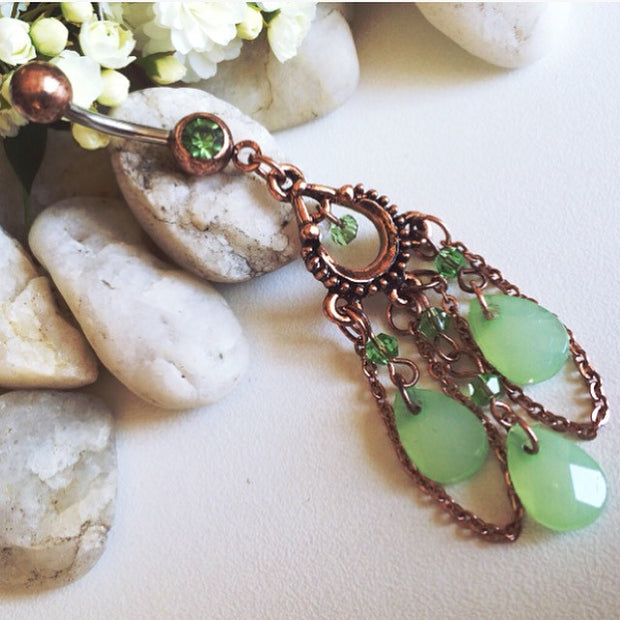 Vintage Peridot Belly Bar