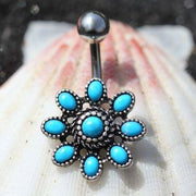 Blue Allure Belly Ring