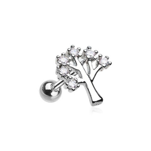 Tree of Life Sparkle Tragus Cartilage Earring