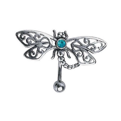 Filigree Dragonfly Reverse Animal Navel Ring