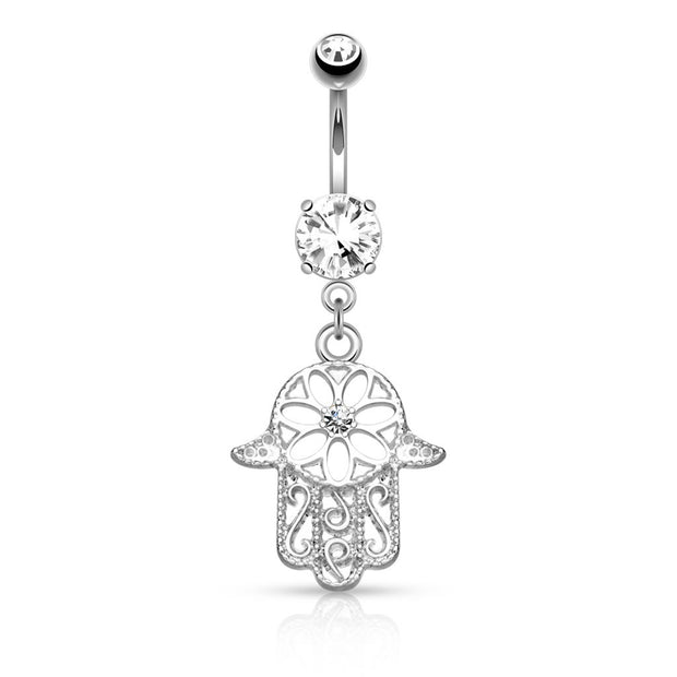 Hamsa Belly Button Ring