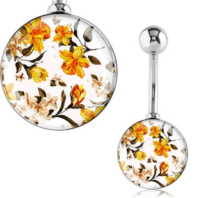 Flower Belly Button Rings Australia