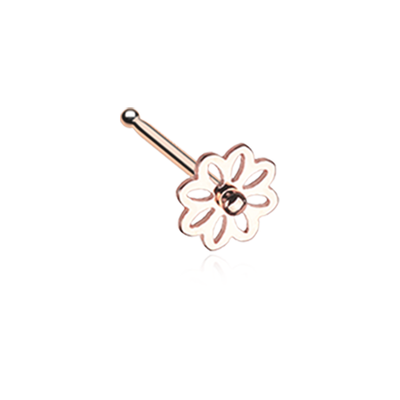 Rose Gold Daisy Nose Stud Ring