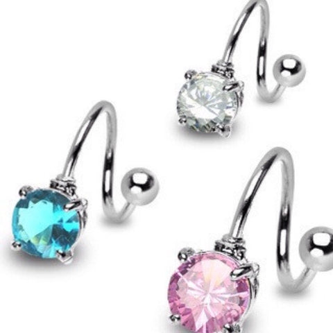 Spiral Twister Belly Button Rings Australia