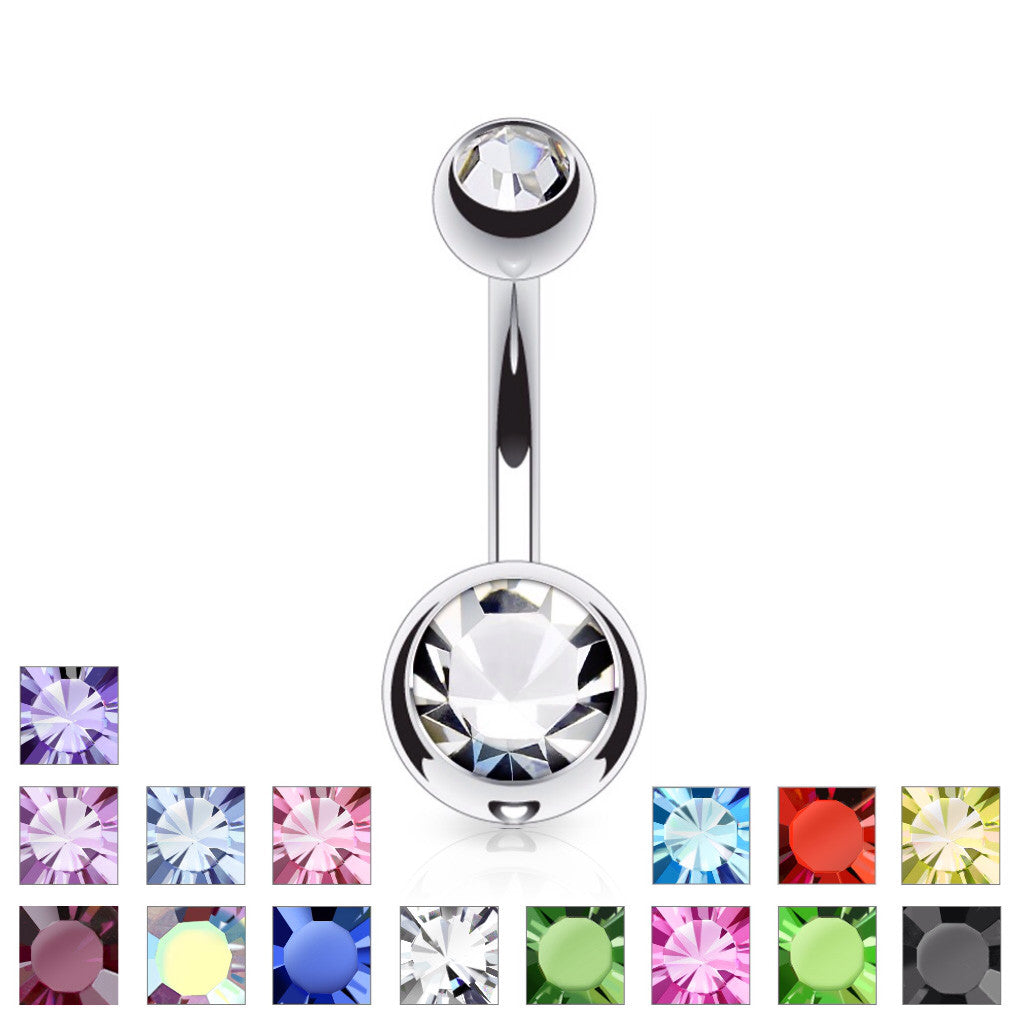 sun ring piercing belly button rings navel opal products