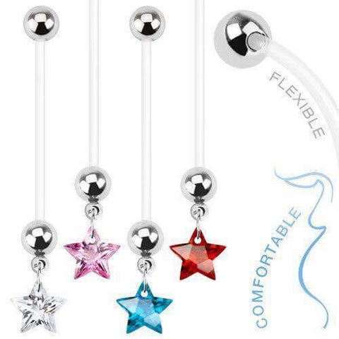 Star Gem Maternity Belly Button Ring