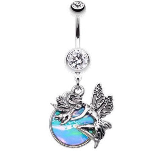 Mid Summer Night Opal Nymph Dangle Belly Ring