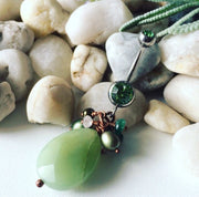 Natural Jade Stone Belly Button Ring