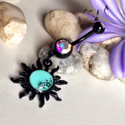 Glow in the Dark Belly Button Rings