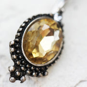Antique Topaz Oval Mirror Belly Ring