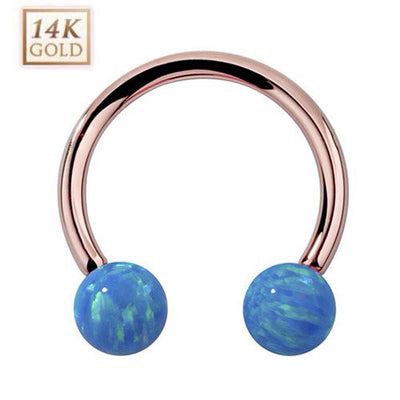 14k Rose Gold Circular Barbell Body Jewellery