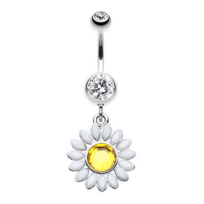 Tropical Flower Belly Rings