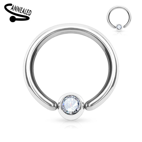 One End Ball Hoop Captive Belly Ring