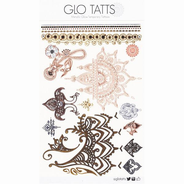 GLO TATTS® Henna Pack Metallic Tattoos