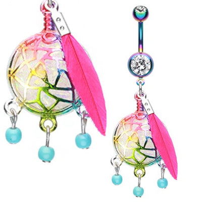 Dreamcatcher Navel Piercing Rings