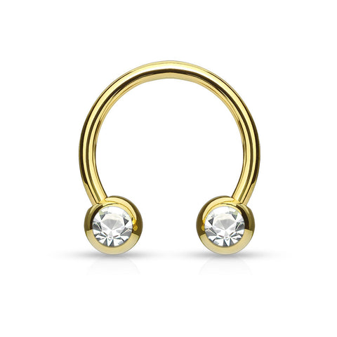 Gold Gem Circular Horseshoe