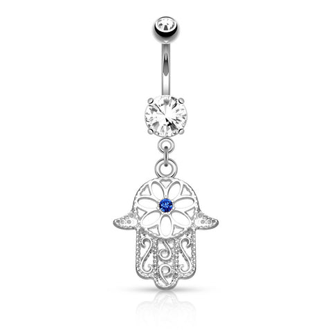 Royal Hamsa Belly Dangle