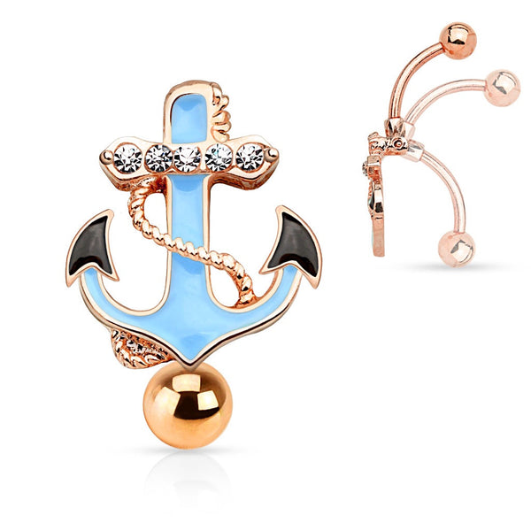 Rose Gold Plated Belly Rings Australia